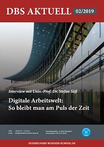 DBS Aktuell 02/2019 - Titelbild: Digitale Arbeitswelt: So bleibt man Puls der Zeit